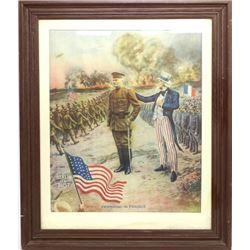 "Original ""Persian in France"" WW1 lithograph"