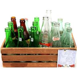 Collection of 16 soda bottles includes