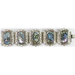 Vintage abalone and German silver bracelet