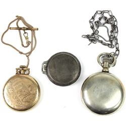 Collection of 3 antique pocket watches,