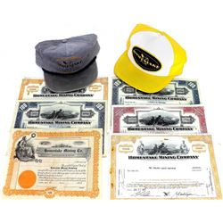 Collection of 8 includes 2) Homestake caps