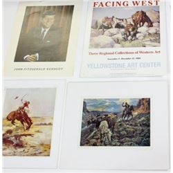 Collection of 8 western prints includes