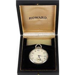 Vintage open face Howard pocket watch