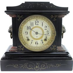 Antique Ansonia mantle clock with black