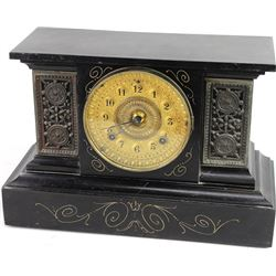 Antique Ansonia mantle clock with gold