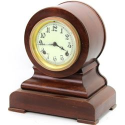 Antique New Haven mantle clock, cherry wood