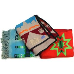 "Collection of 3 Pendleton blankets ""Medicine Keepe"