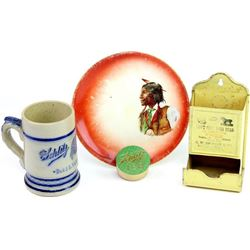 Collection of 4 advertising items includes