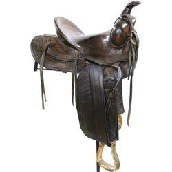 Al Furstnow Miles City stamped saddle No.