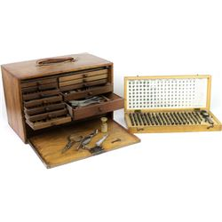 Collection of 2 includes wood traveling dentist