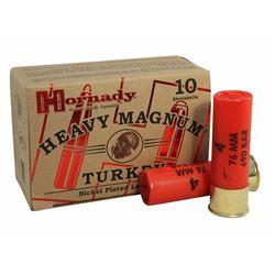 """Hornady Heavy Mag Turkey 12 Ga 3"""" #4 Nickel Plated Ammo"""