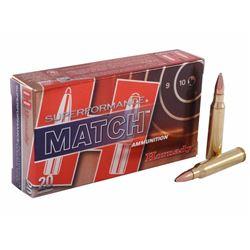 Hornady Superformance Match Ammo 5.56x45mm NATO 75Gr