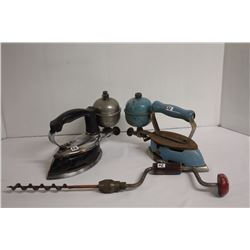 Coleman irons and drill