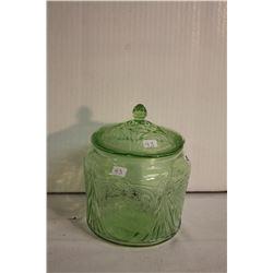 Royal lace Depression cookie jar