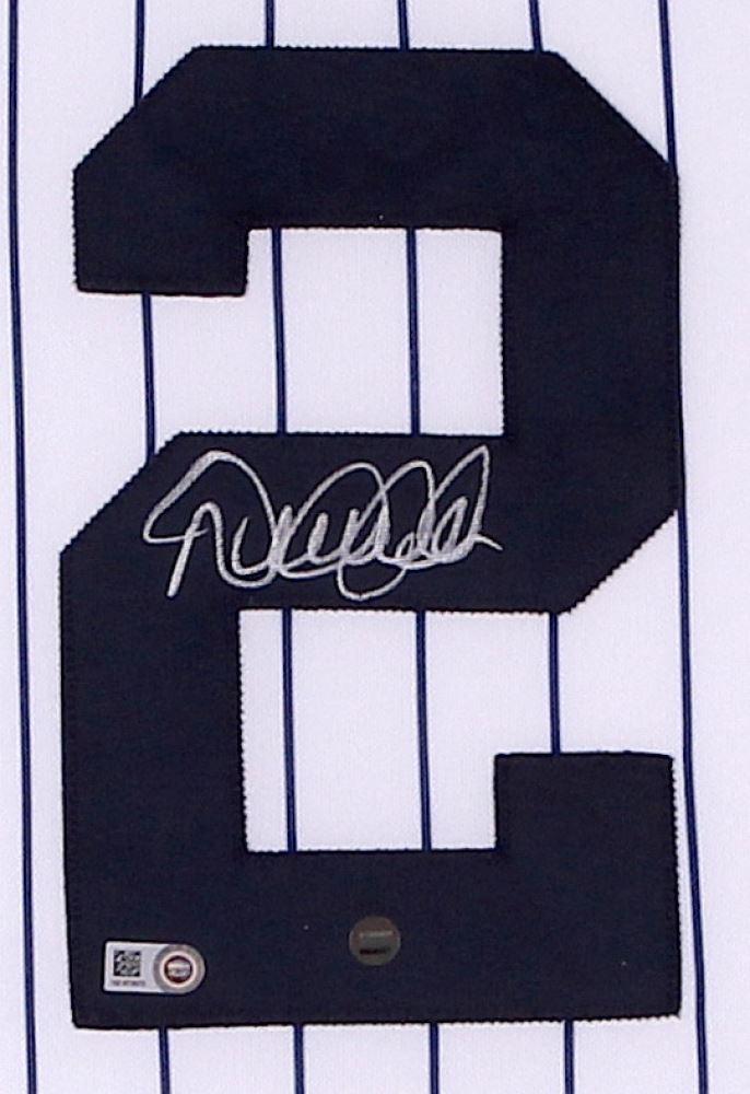 free shipping d602f 37e4a Derek Jeter Signed Yankees 35x39 Custom Framed Jersey ...