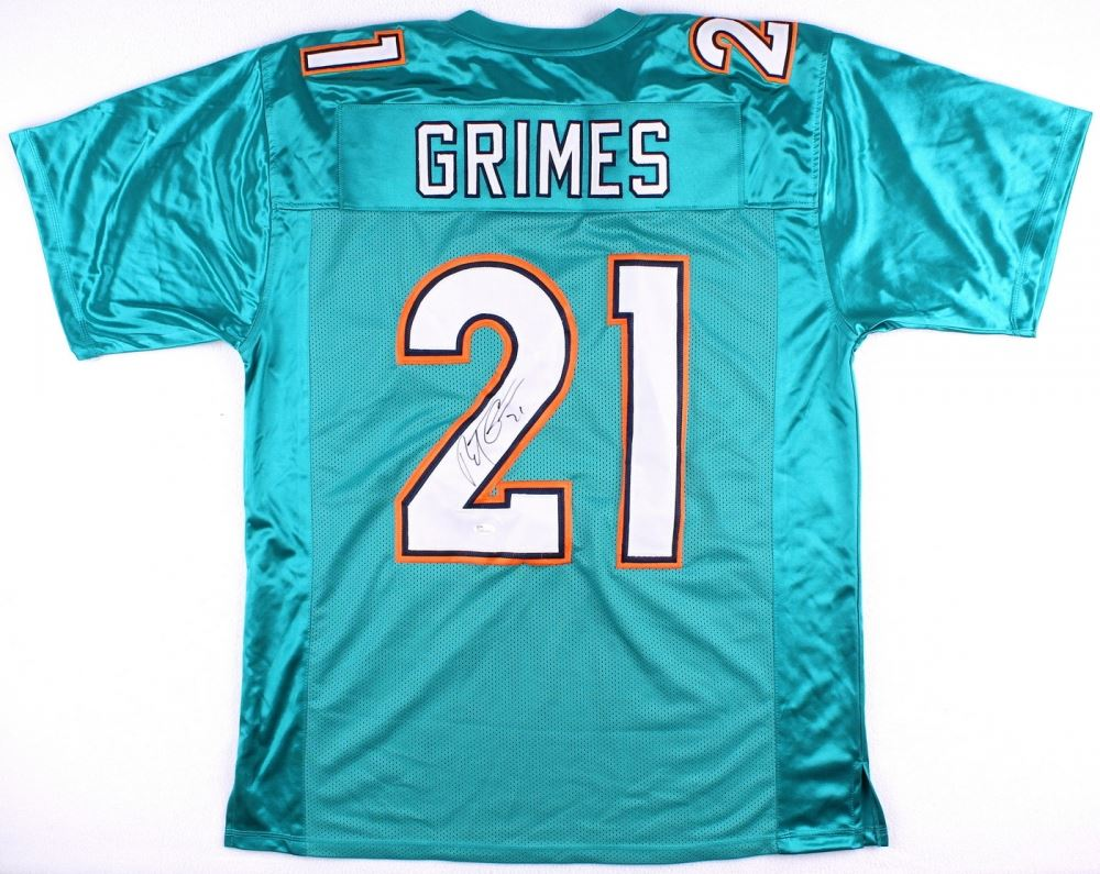 new product bad82 38dd3 Brent Grimes Signed Dolphins Jersey (JSA)