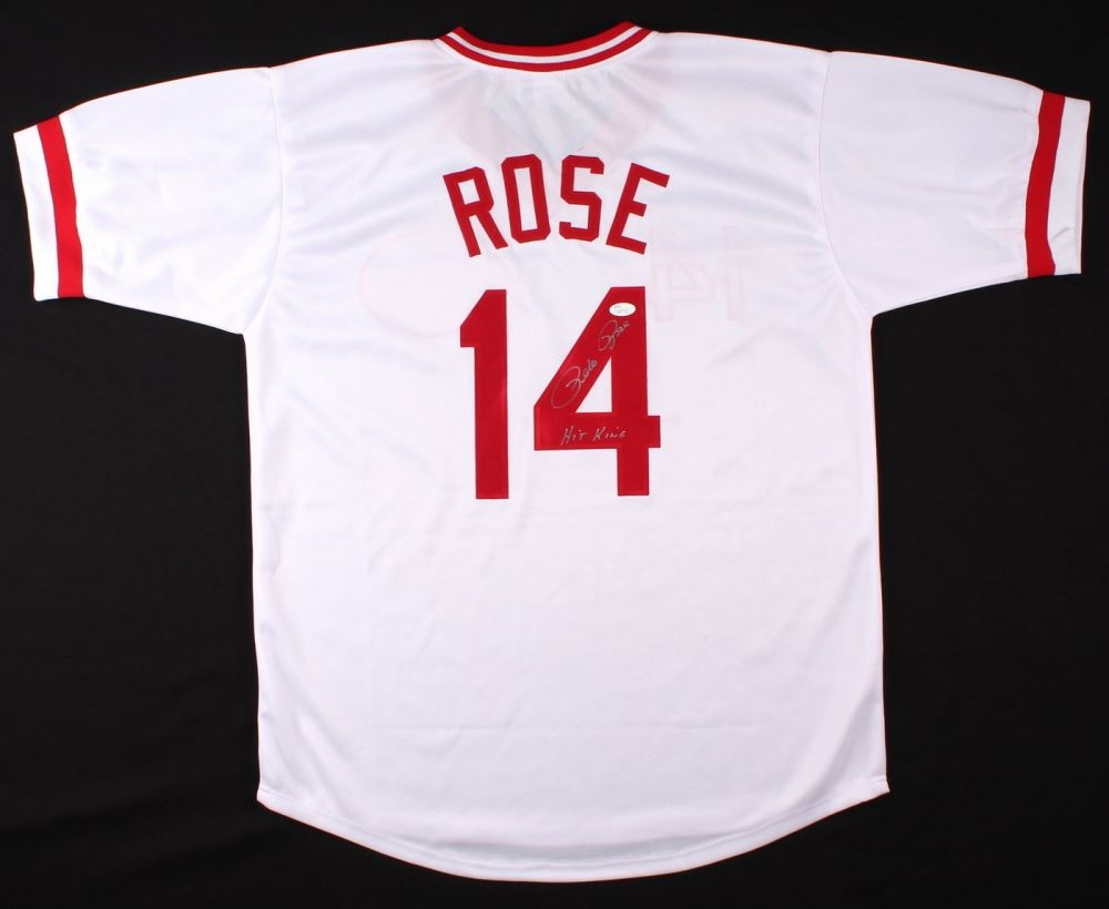 3c1bc697f Image 1   Pete Rose Signed Reds Jersey Inscribed