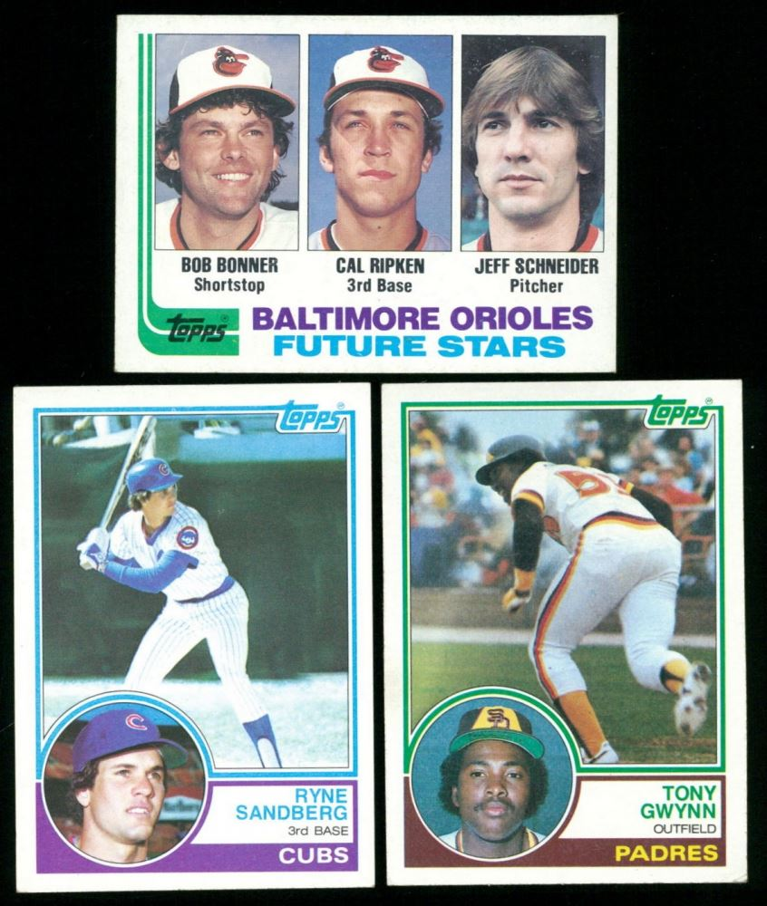 Lot Of 3 Rookie Baseball Cards With 1983 Topps 83 Ryne