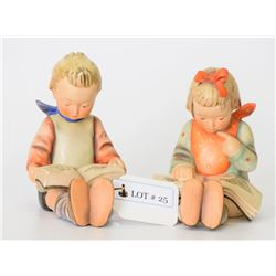 Lot of 2 Hummel Book Ends Figurines #14 A and 14 B