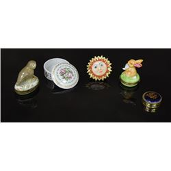 Lot of 5 Limoges Trinket Jewelry Pill Boxes