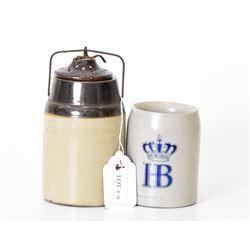 Hofbrauhaus HB 0.5 Liter Salt Glaze Stoneware Beer