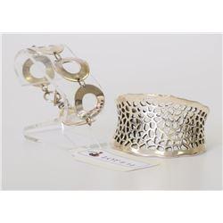 Lot of 2 Sterling Silver Bracelets