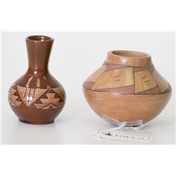 Lot of 2 Native American Pottery Vases