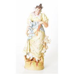 Antique Bisque Lady Figurine