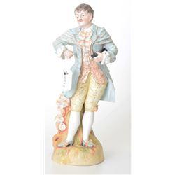 Antique Bisque Figurine of a European Gentleman