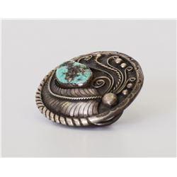 Native American Navajo Indian Sterling Silver Turq