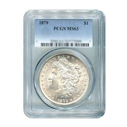 1879 $1 Morgan Silver Dollar - PCGS MS63
