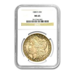 1880-S $1 Morgan Silver Dollar - NGC MS65