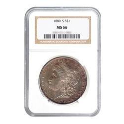 1880-S $1 Morgan Silver Dollar - NGC MS66