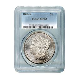 1880-S $1 Morgan Silver Dollar - PCGS MS63