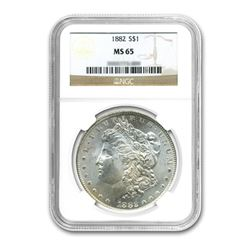 1882 $1 Morgan Silver Dollar - NGC MS65