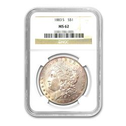 1883-S $1 Morgan Silver Dollar - NGC MS62