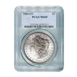 1884-CC $1 Morgan Silver Dollar - PCGS MS65