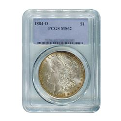 1884-O $1 Morgan Silver Dollar - PCGS MS62