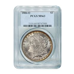 1884-O $1 Morgan Silver Dollar - PCGS MS63