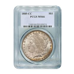 1885-CC $1 Morgan Silver Dollar - PCGS MS66