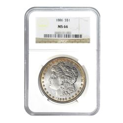 1886 $1 Morgan Silver Dollar - MS65