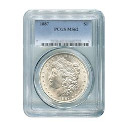 1887 $1 Morgan Silver Dollar - PCGS MS62