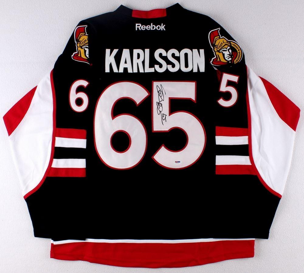 sale retailer 8cf67 7ae3e Erik Karlsson Signed Senators Jersey (PSA COA)
