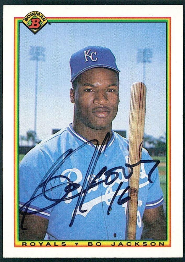 Bo Jackson Signed 1990 Bowman 378 Baseball Card Jsa Coa