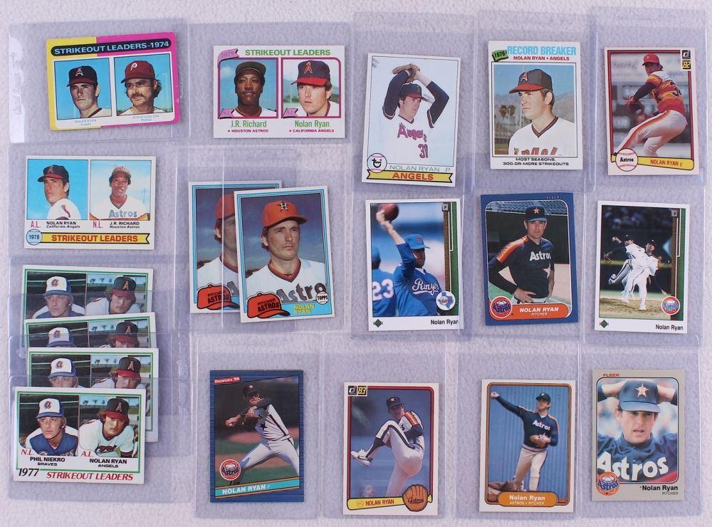 Lot Of 56 Nolan Ryan Baseball Cards With 1977 Topps 234 1975