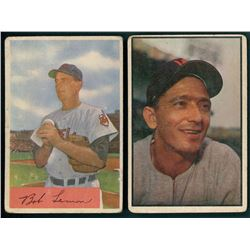 Lot Of 2 Vintage Bowman Baseball Cards With 1953 Bowman Color