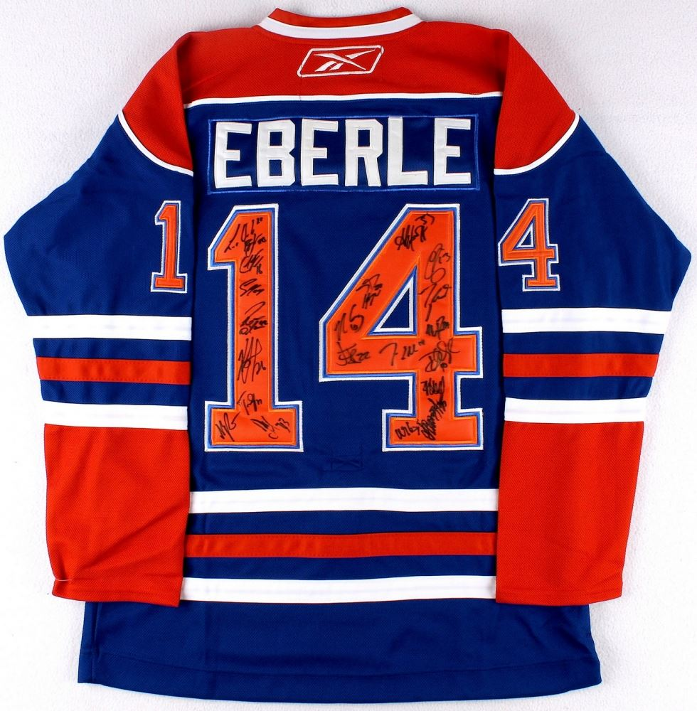 huge discount 5f35e 45c96 Edmonton Oilers Team-Signed Jersey Signed by (21) with ...