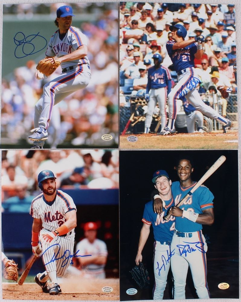 Lot of (4) 1986 Mets World Series Champions 8x10 Photos