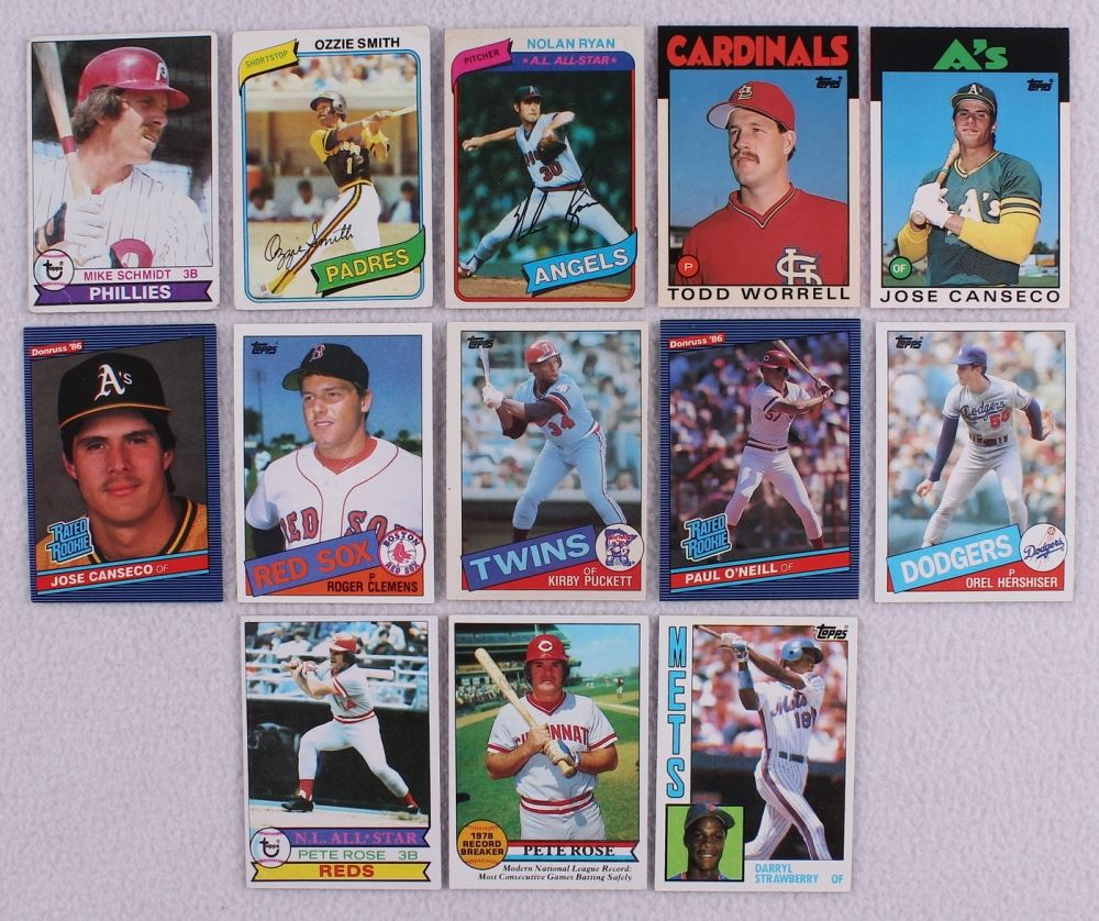 Lot Of 13 1970 80s Star Rookie Baseball Cards With 1985