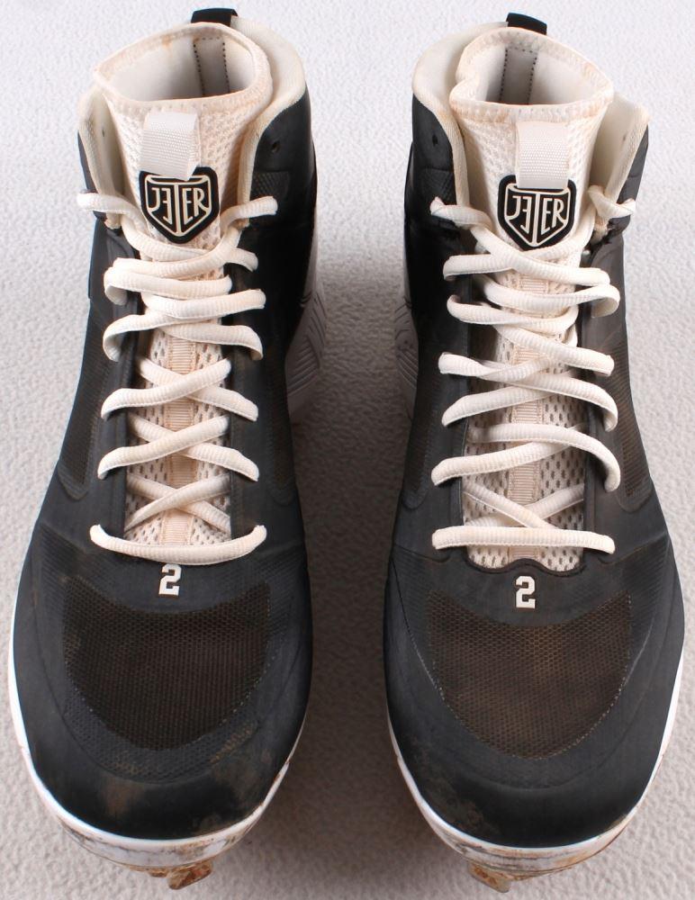 910b182ad Pair of (2) Derek Jeter 2014 Final Season Game-Used Nike Air Jordan.  Loading zoom